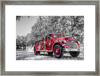 Classic Fire Engine  Framed Print by Drew Castelhano