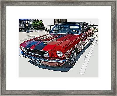 Classic Ford Mustang Convertible Framed Print by Samuel Sheats
