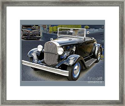 Framed Print featuring the photograph Classic Ford by Victoria Harrington