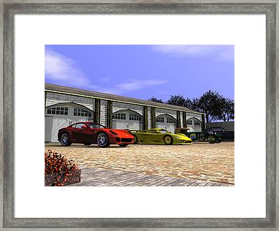 Classic Garage Framed Print by John Pangia