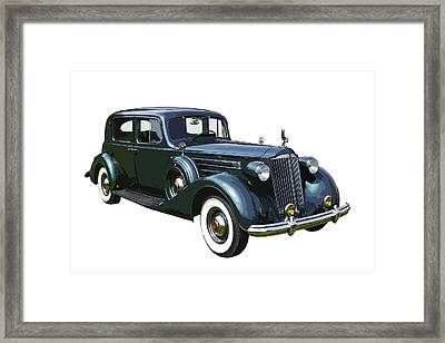 Classic Green Packard Luxury Automobile Framed Print