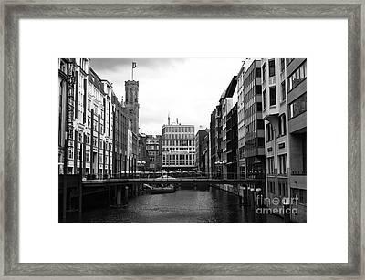 Classic Hamburg Mono Framed Print by John Rizzuto