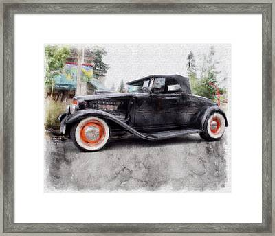 Classic Hot Rod Framed Print by David Brown
