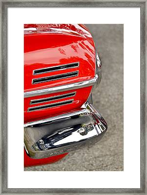 Classic Impala In Red Framed Print