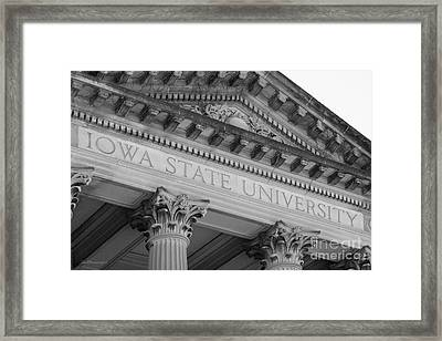 Classic Iowa State University Framed Print by University Icons
