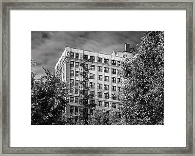 Classic Iron Fire Escape Chicago Il Framed Print by Christine Till