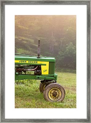 Classic John Deere 520 Tractor Framed Print by Edward Fielding