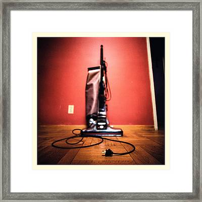 Classic Kirby Vacuum Framed Print by Yo Pedro