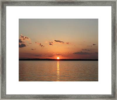 Framed Print featuring the photograph Classic Lake Sunset by Ellen O'Reilly