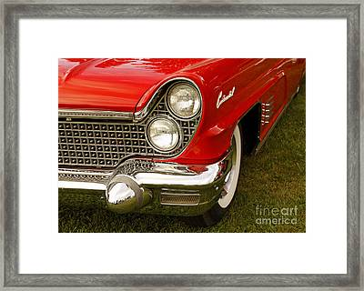 Classic Lincoln Continental Cruise Night Framed Print by Inspired Nature Photography Fine Art Photography