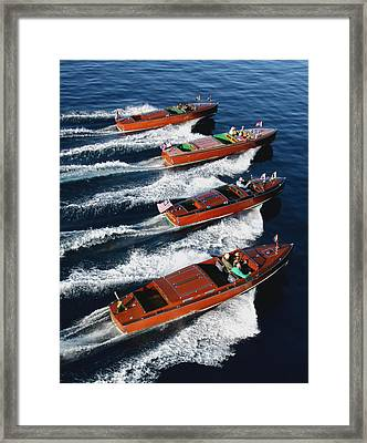 Classic Lineup Framed Print by Steven Lapkin