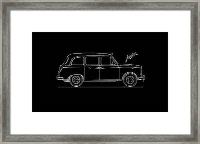 Classic London Taxi Phone Case Framed Print