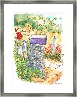 Classic Mail Box In Bel Air - California Framed Print by Carlos G Groppa