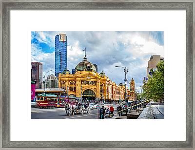 Classic Melbourne Framed Print by Az Jackson