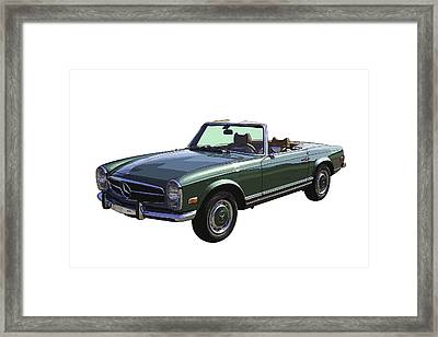 Classic Mercedes Benz 280 Sl Convertible Automobile Framed Print by Keith Webber Jr