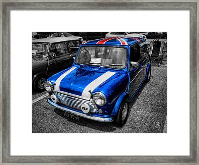 Classic Mini Cooper Framed Print by Lance Vaughn