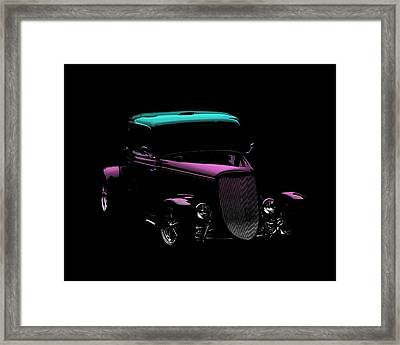 Old Car Framed Print featuring the photograph Classic Minimalist by Aaron Berg
