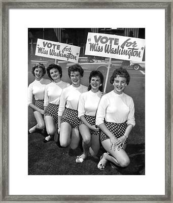 Classic Miss America Contest Framed Print by Retro Images Archive