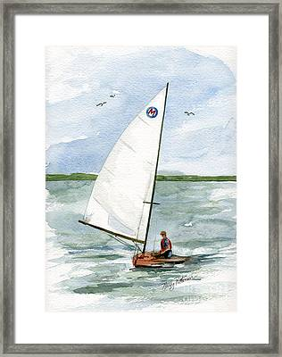 Framed Print featuring the painting Classic Moth Boat by Nancy Patterson