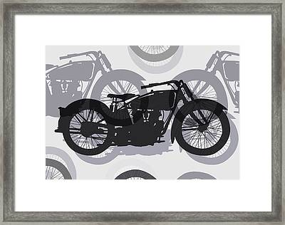 Classic Motorcycle  Framed Print by Daniel Hagerman