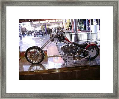Classic Motorcycle Framed Print