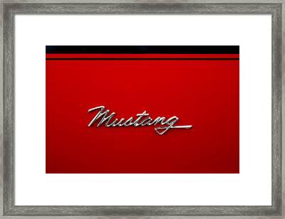 Classic Mustang Framed Print