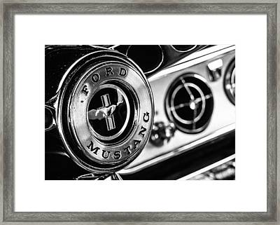 Classic Mustang Interior Detail Framed Print by Jon Woodhams
