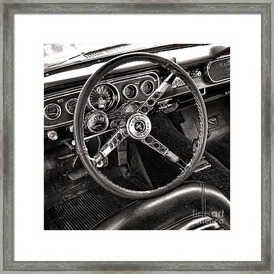 Classic Mustang Framed Print by Olivier Le Queinec