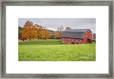 Classic New England Fall Farm Scene Framed Print by Edward Fielding