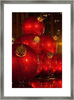 Classic New York Christmas Framed Print