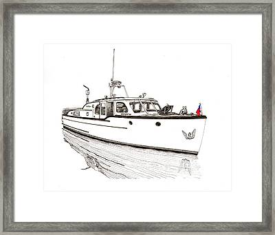 Classic Northwest Yacht Framed Print by Jack Pumphrey