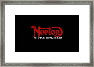 Classic Norton Phone Case Framed Print by Mark Rogan
