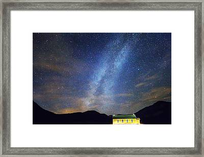 Classic Old Yellow School House Milky Way Sky Framed Print by James BO  Insogna