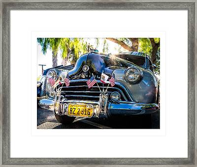 Framed Print featuring the photograph Classic Oldsmobile by Steve Benefiel