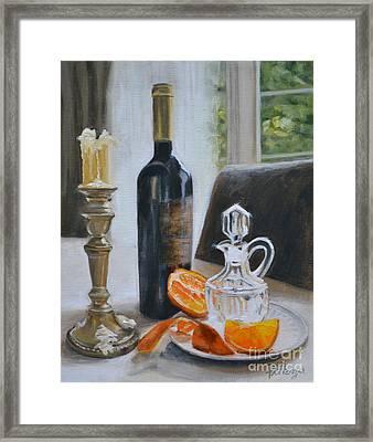 Classic Orange Framed Print by Lori Pittenger