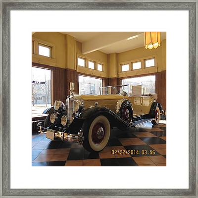 Framed Print featuring the photograph Classic Packard In Showroom by Eric Switzer