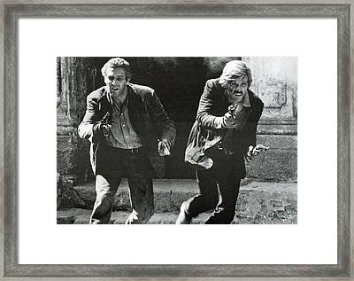 Classic Photo Of Butch Cassidy And The Sundance Kid Framed Print