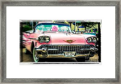 Classic Pink Cadillac Framed Print by Perry Webster
