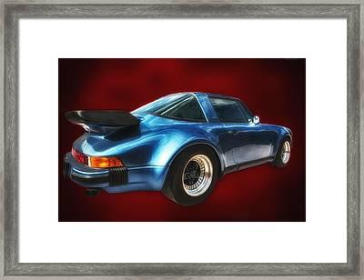 Framed Print featuring the photograph Classic Porsche ... by Chuck Caramella