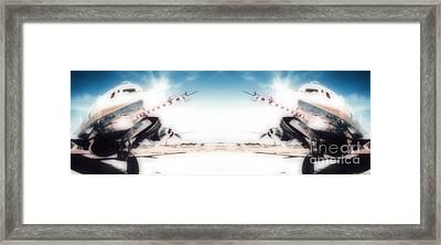 Propeller Aircraft Framed Print by R Muirhead Art