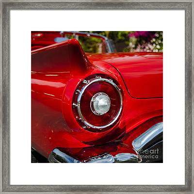 Framed Print featuring the photograph 1957 Ford Thunderbird Classic Car  by Jerry Cowart