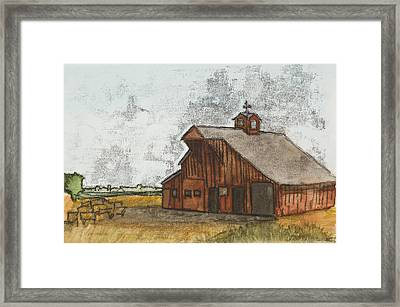 Classic Red Barn Framed Print by Hailey Jackson