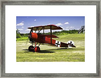 Classic Red Barron Fokker Dr.1 Triplane Photo Framed Print by Keith Webber Jr