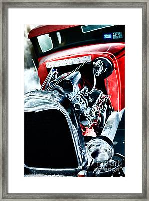Framed Print featuring the digital art Classic Red by Erika Weber