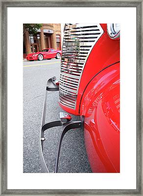 Classic Red Framed Print by Karol Livote