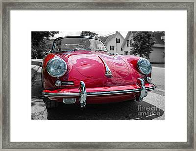 Classic Red Sports Car Framed Print by Edward Fielding