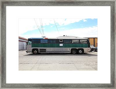 Classic Retro Greyhound Bus 5d25255 Framed Print by Wingsdomain Art and Photography