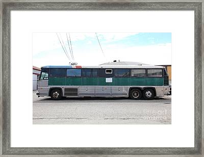 Classic Retro Greyhound Bus 5d25256 Framed Print by Wingsdomain Art and Photography