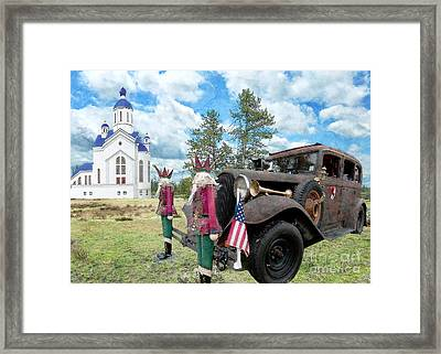 Classic Ride Framed Print by Liane Wright