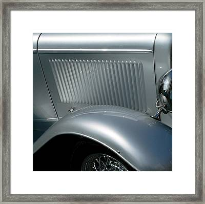 Framed Print featuring the photograph Classic Roadster Silver by Jeff Lowe